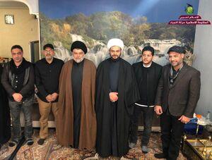 عکس/ نشست «مقتدی صدر» و رهبران الحشدالشعبی