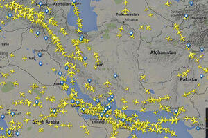 پرواز هواپیماهای روسی از حریم هوایی ایران ادامه دارد