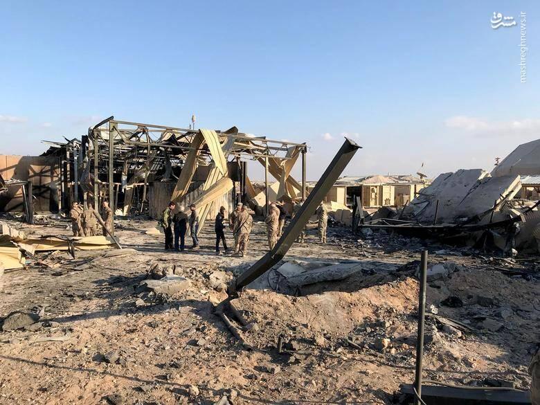 تصاویر جدید از پایگاه هوایی عین الاسد پس از حمله ایران