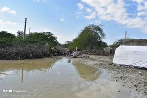 عکس/ وضعیت یک روستا پس از فروکش کردن سیلاب