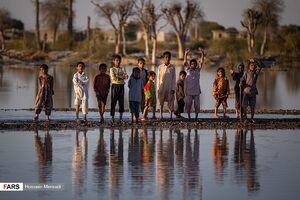 عکس/ وضعیت یکی از مناطق سیلزده سیستان و بلوچستان