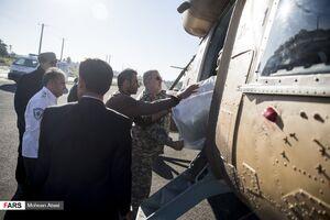 عکس/ امدادرسانی نیروهای سپاه به سیلزدگان