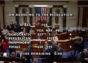 مجلس آمریکا با ارسال پرونده استیضاح ترامپ به سنا موافقت کرد