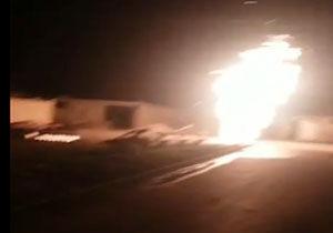 آتشسوزی خط لوله گاز