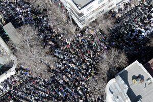 تصاویر هوایی از آخرین نماز جمعه به امامت رهبر انقلاب