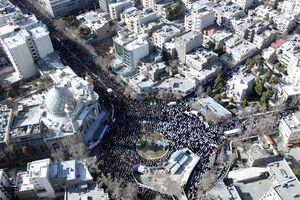 تصاویر هوایی از نمازگزاران تهران در جمعه انقلابی