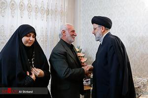 حضور رئیس قوه قضاییه در مزار و منزل شهید زمانی نیا