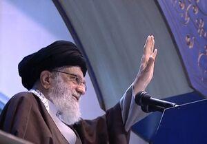 فیلم/ لحظه ورود رهبر انقلاب به مصلی امام خمینی(ره)
