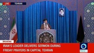 تصاویر زنده شبکه فرانس 24 از نماز جمعه تهران