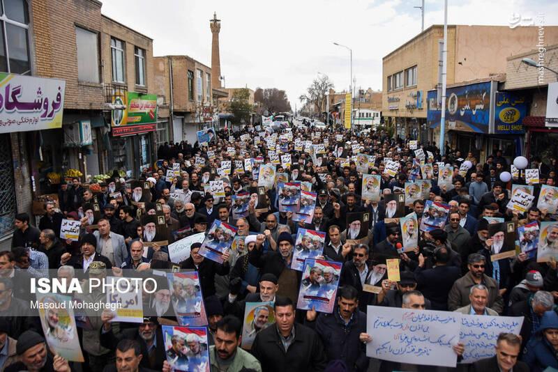 راهپیمایی حمایت از اقتدار نظام در سمنان