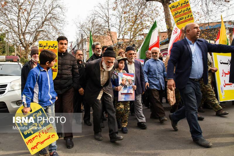 راهپیمایی حمایت از اقتدار نظام در ساری