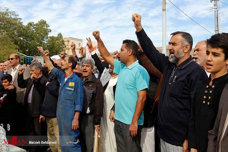 راهپیمایی حمایت از اقتدار نظام در آبادان