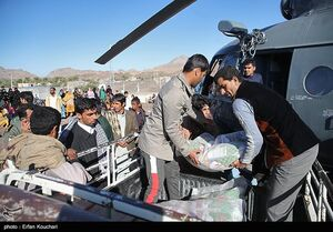 عکس/ امداد رسانی هوایی به مناطق سیل زده