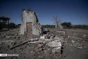 عکس/ خسارت سیل در روستاهای زرآباد سیستان و بلوچستان