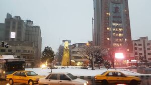 عکس/ تهران سفید پوش شد