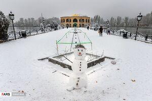 عکس/ بارش برف در « تبریز »
