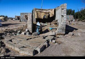 خسارت سیل در روستای چاه الوند