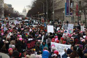 عکس/ راهپیمایی زنان آمریکایی علیه ترامپ