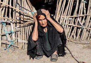 پای درد دل مردم سیل زده بشاگرد +عکس