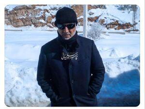 عکس/ تصویری منتشرنشده از سپهبد سلیمانی در برف - کراپشده