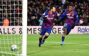 صدرنشینی بارسا در اولین حضور ستین با گل مسی