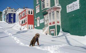 عکس/ عبور و مرور در شرق کانادا مختل شد