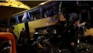 واژگونی مرگبار اتوبوس در ساوه