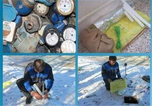 هشدار در خصوص یخزدگی کنتورهای آب در فصل سرما