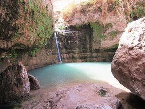 عکس/ آبشاری در دل کویر لوت