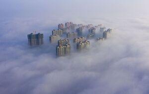 تصویر دیدنی از آسمان خراشهای چین