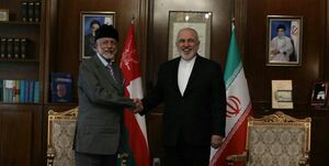 وزیران خارجه ایران و عمان