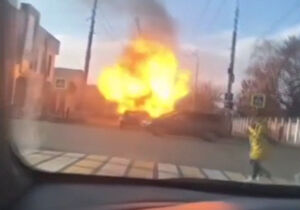 فیلم/ لحظه انفجار یک خودرو