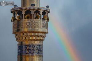 عکس/ رنگین کمان زیبا در آسمان نجف