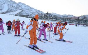 عکس/ تفریحات زمستانی در کره شمالی