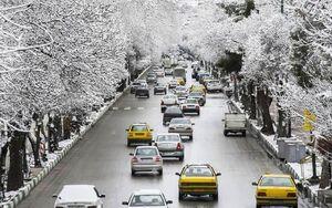 تصویر زیبا از روز برفی در بلوارطاقبستان