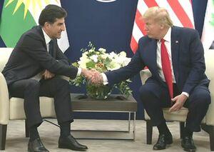 ترامپ و نیچروان بارزانی در داووس دیدار کردند