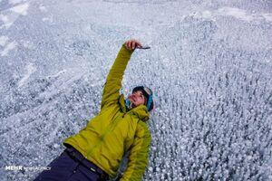 عکس/ سلفی روی یخ