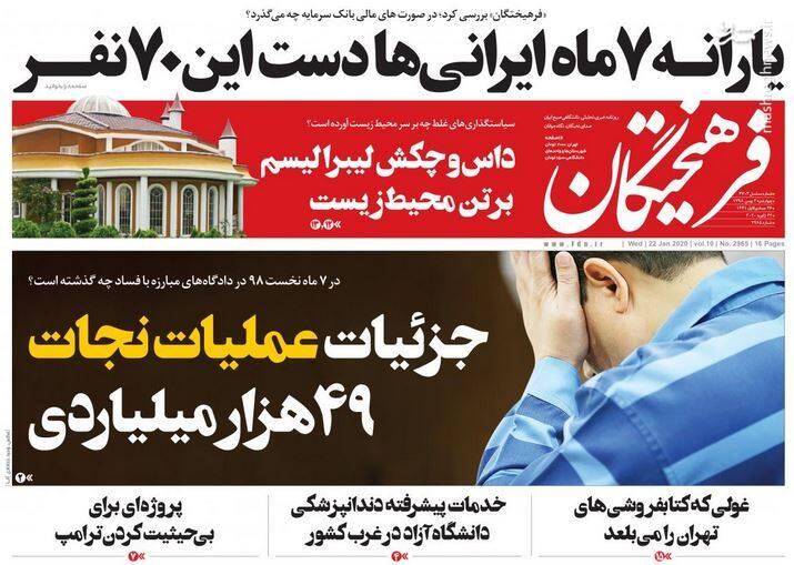 فرهیختگان: یارانه ۷ ماه ایرانی ها دست این ۷۰ نفر