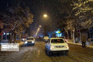 عکس/ شب برفی اراک