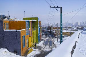 خانههای رنگی کوی محتشم گرگان +عکس
