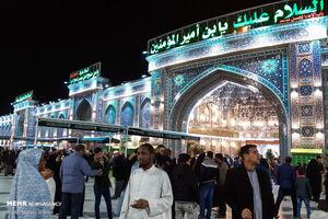 عکس/ حال و هوای بینالحرمین در شب زیارتی ارباب