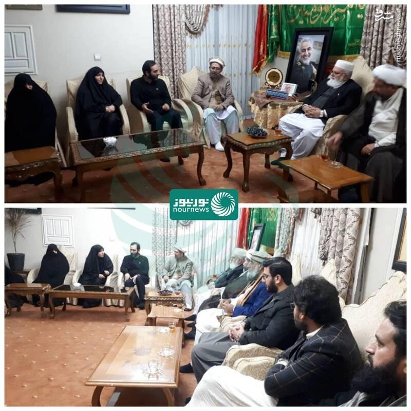 رهبران احزاب پاکستانی در منزل سردار سلیمانی