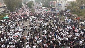 اولین تصاویر از حضور میلیونی مردم عراق در تظاهرات