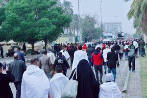تصاويري از تظاهر كنندگان در عراق