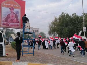 فیلم/ بزرگترین تظاهرات عراق با شعار مرگ بر آمریکا