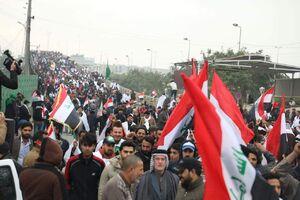 تصویر دیدنی از تظاهرات میلیونی ضد آمریکایی در عراق