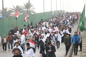 فیلم/ تظاهرات میلیونی ضد آمریکایی در بغداد را از بالا ببینید