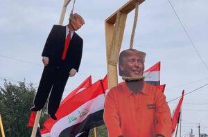 عکس/ اعدام نمادین آمریکاییها در تظاهرات میلیونی مردم عراق
