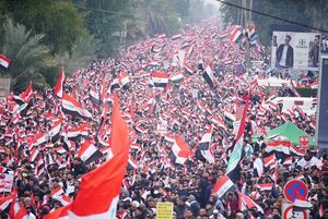 راهپیمایی ضدآمریکایی دلگرم کننده عراقیها +عکس