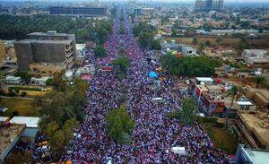 عکس/ حضور کم نظیر مردم عراق در خیابانهای بغداد